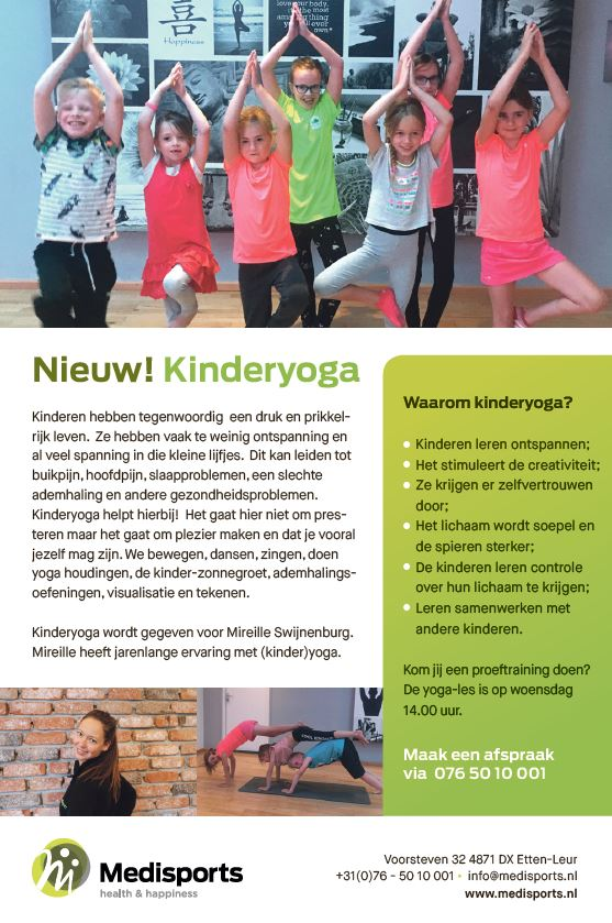 Kinderyoga advertentie